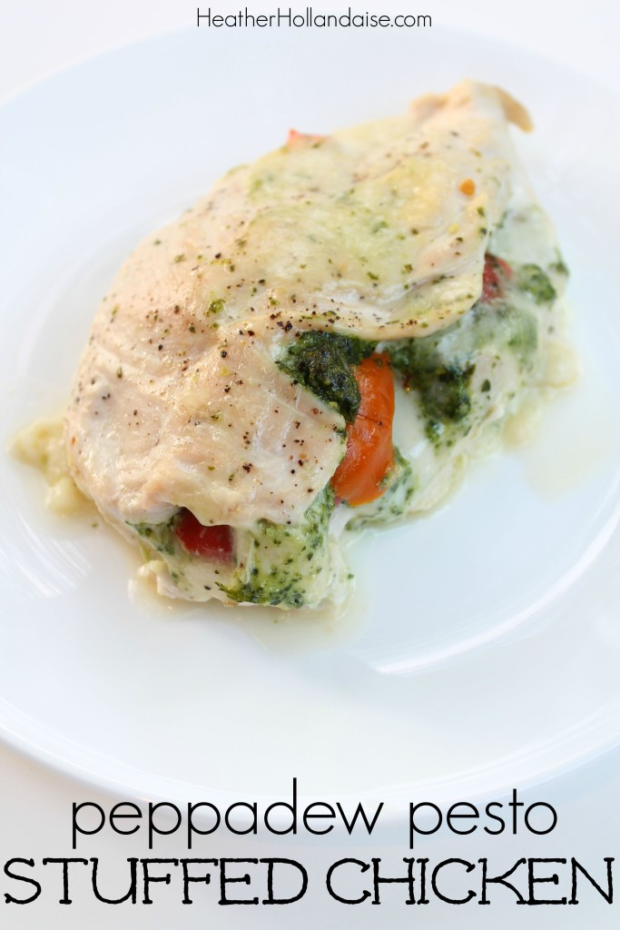 Paleo Peppadew Pepper, Pepperoncini Pesto and Mozzerella Stuffed Chicken