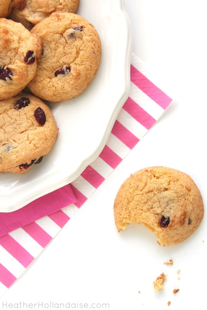 gkuten free Cranberry Orange Cake Cookies