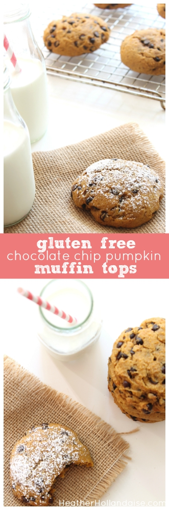 Gluten Free Chocolate Chip Pumpkin Muffin Tops