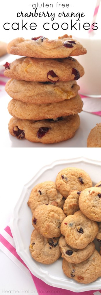 gluten free cranberry orange cake cookies
