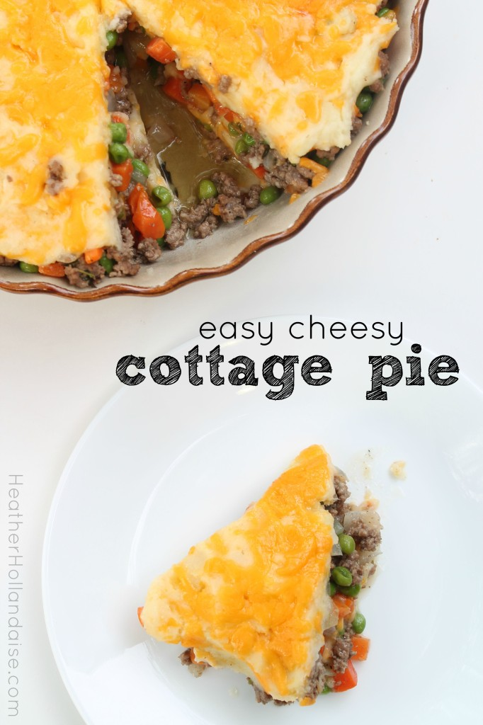 easy cheesy cottage pie - HeatherHollandaise.com
