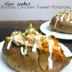 Slow Cooker Buffalo Chicken Sweet Potatoes